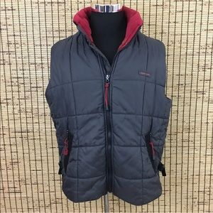 Vintage Point Zero Men's Puffer Vest Full Zip L